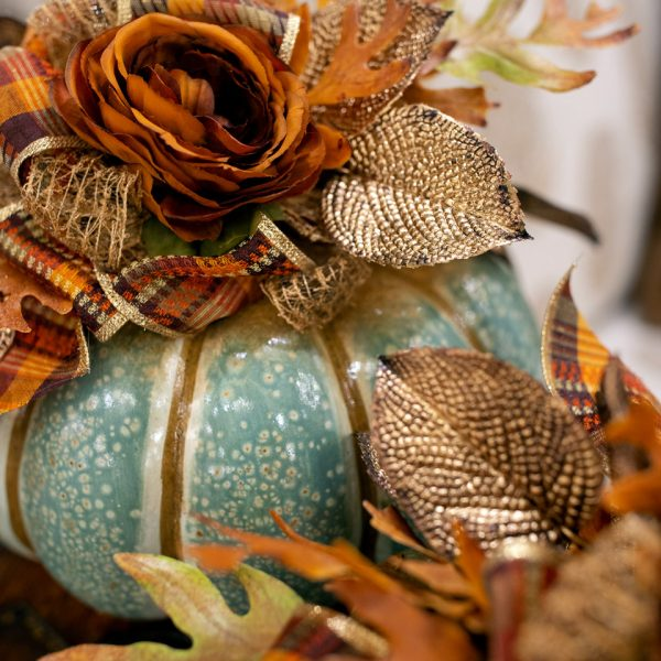 Hand Embellished Fall Pumpkin Luxury Decor