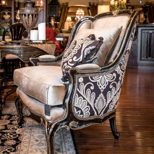Marge Carson Luxury Patterened Chair