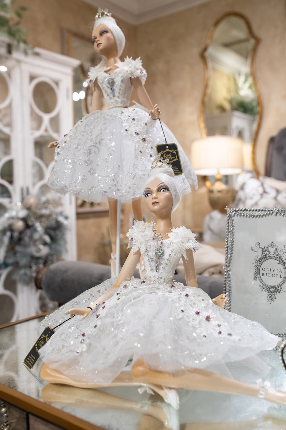 White Ballerina Dolls by Linly Designs