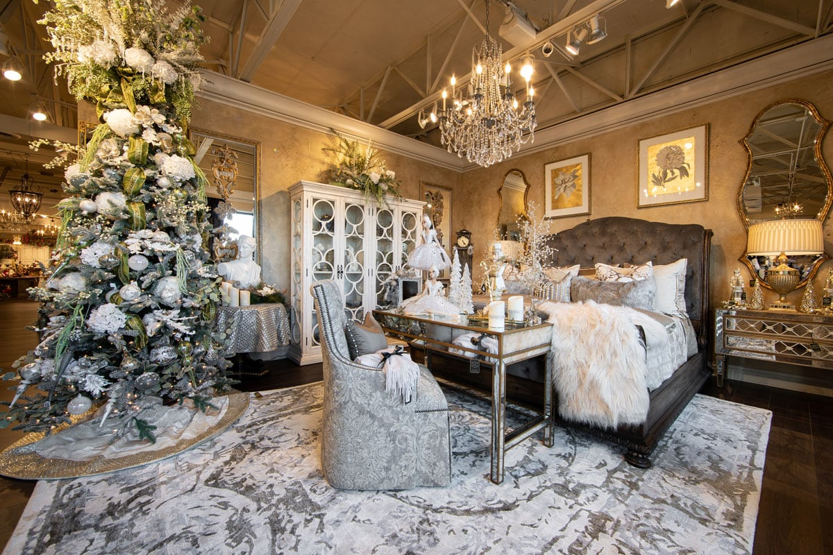 Luxury Bedroom Christmas Decor