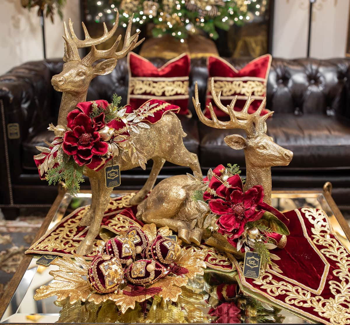 Red and Gold Decorated Reindeer