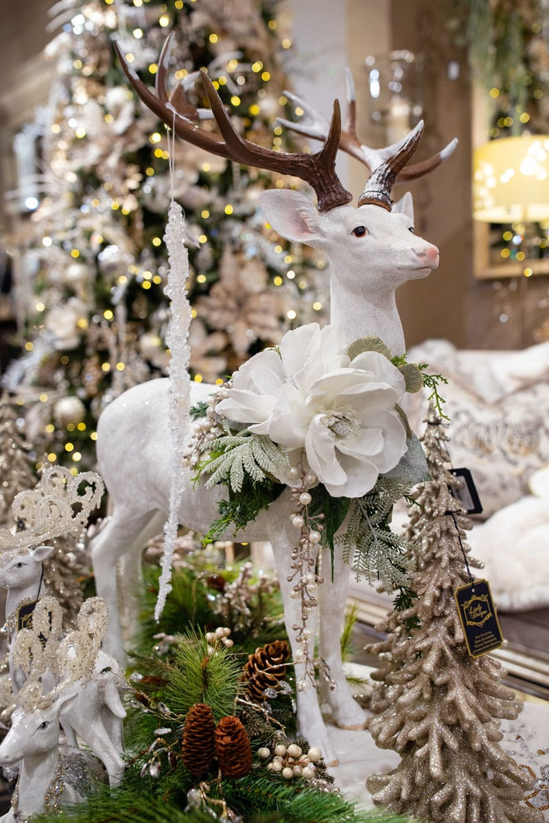 White Custom Reindeer Christmas Decor