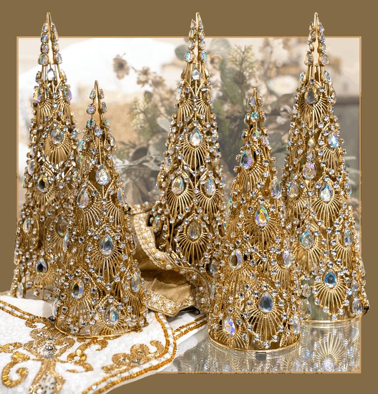 Five Golden Trees Luxury Christmas Decor