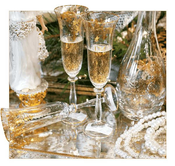 Luxury Gold Champagne Glasses