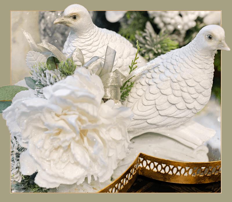Decorated Turtle Dove Decor