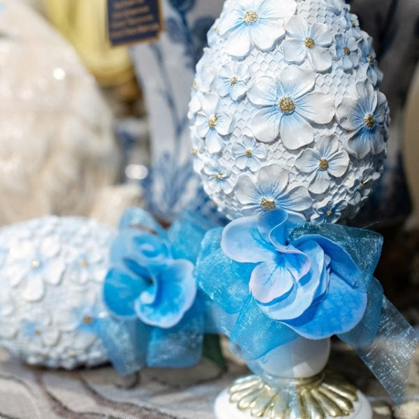 Blue Spring Decorated Egg Home Decorating Ideas