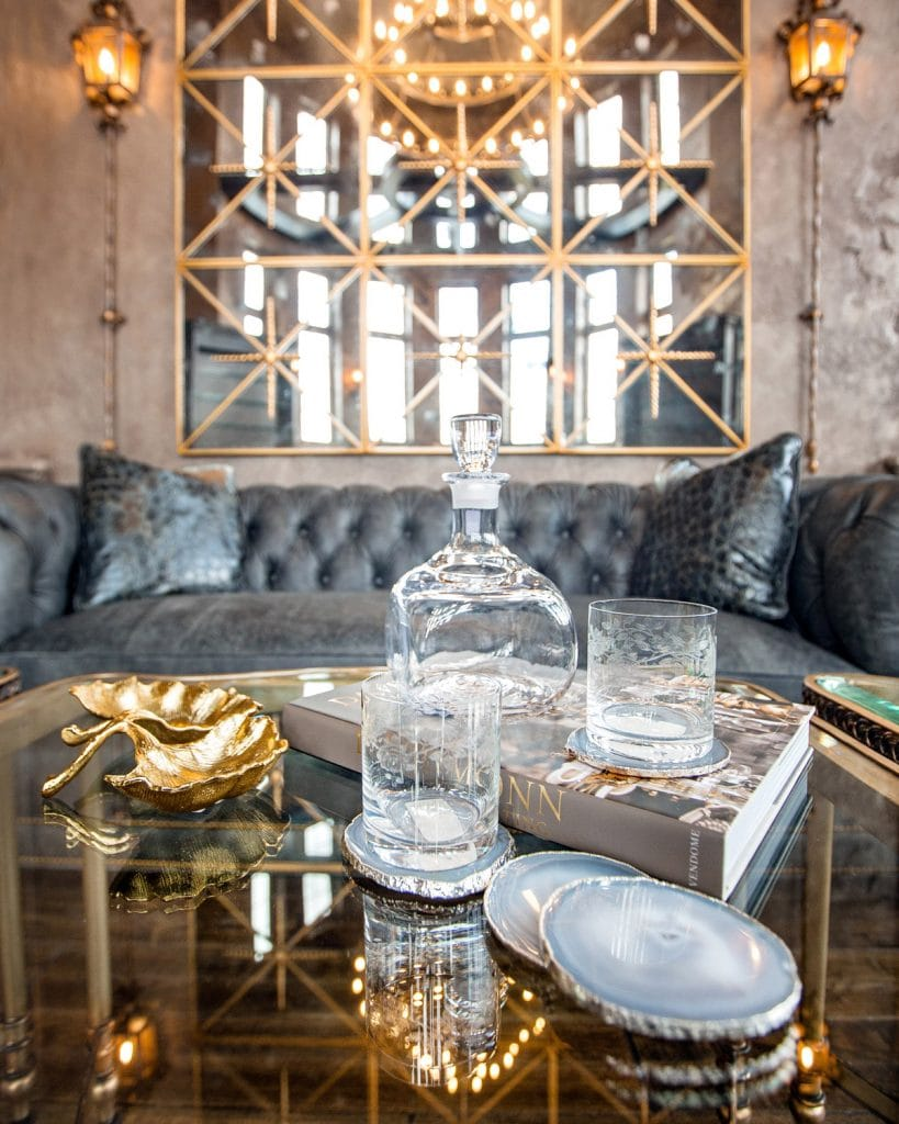 Luxury Cocktail table home decor and accessories