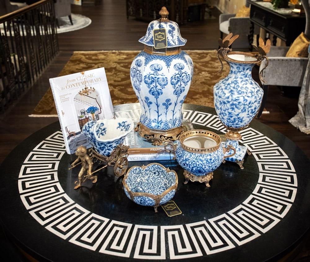 Blue-Oriental-painted-ceramic-jars
