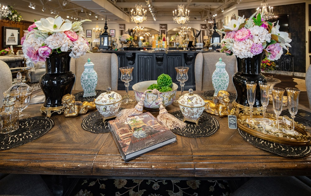 Ceramic-and-barware-spring-and-summer-dining-room-table-setting