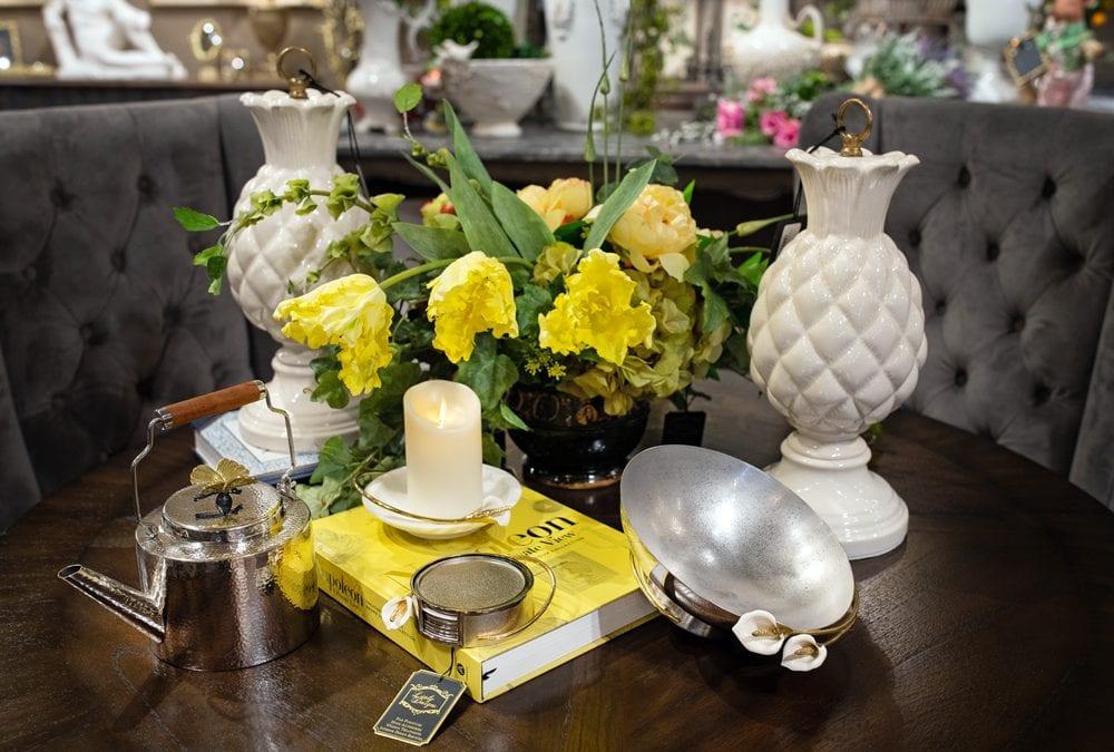 Spring Flower Dining Room Setting