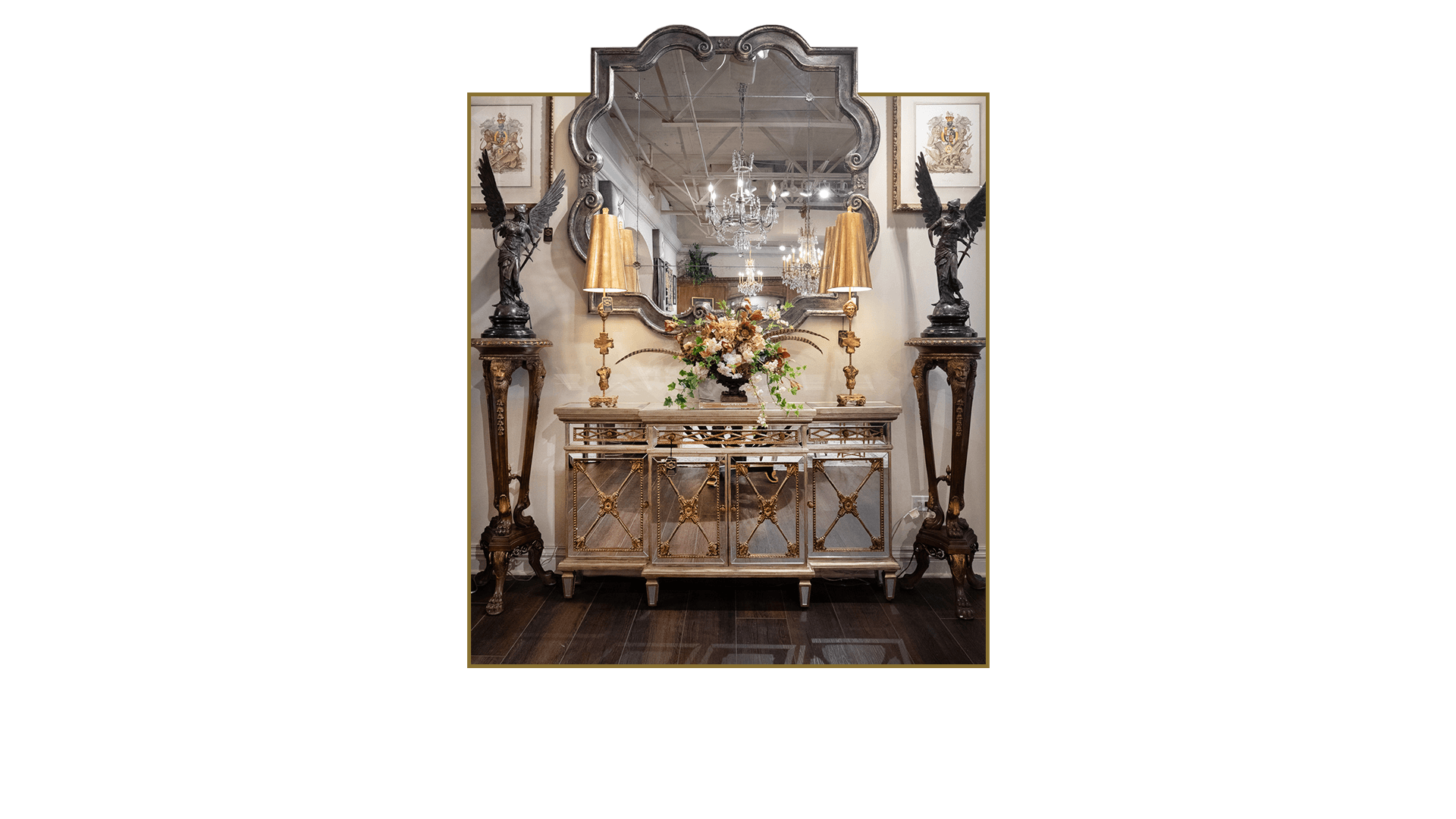 Gold Mirror Console Luxury Furniture and Home Decor