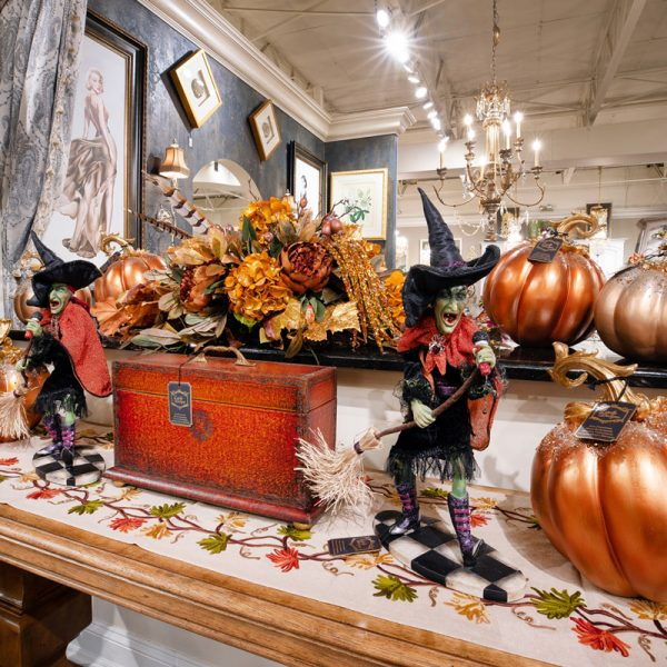 Halloween Witches and Fall Pumpkins Luxury Seasonal Home Decor and Designer Decorations