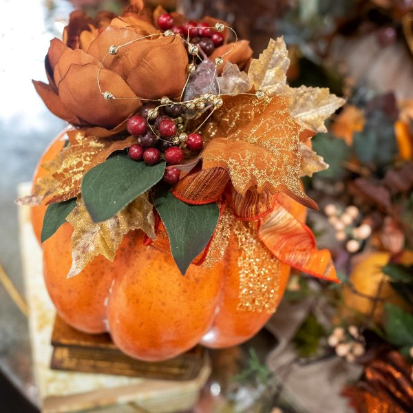 Luxury Orange Fall Pumpkins Home Decorating Ideas