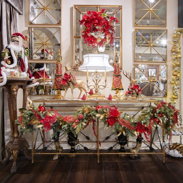Classic and Luxury Red and Gold Christmas Theme Home Decorating Ideas