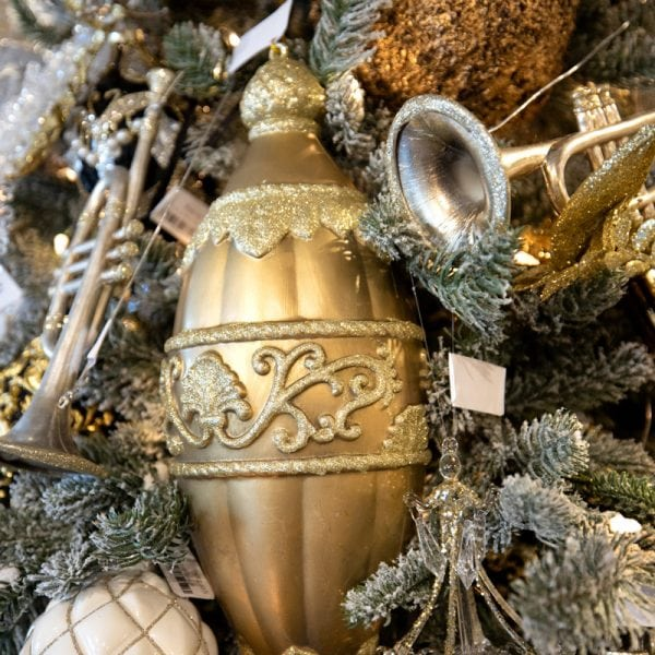 Luxury Gold Glass Ornaments Christmas Tree Decorating