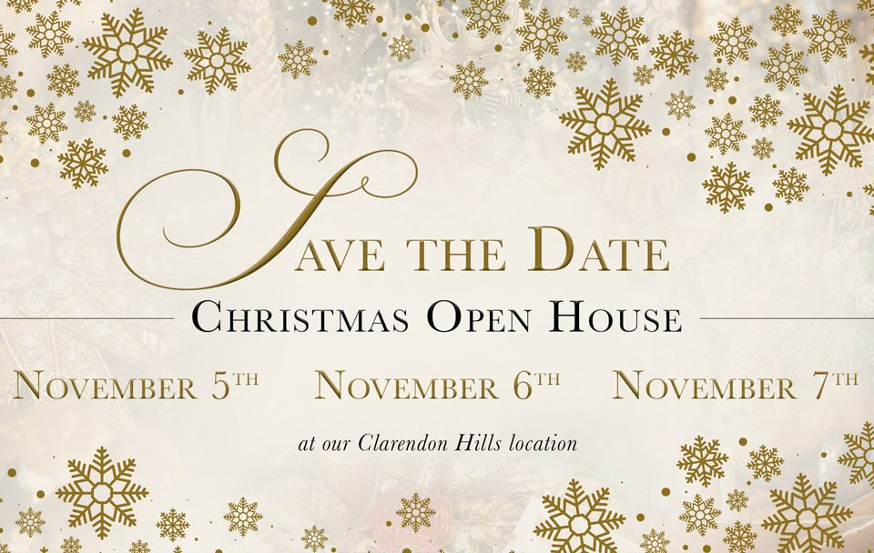 Save the Date Christmas Open House Linly Designs