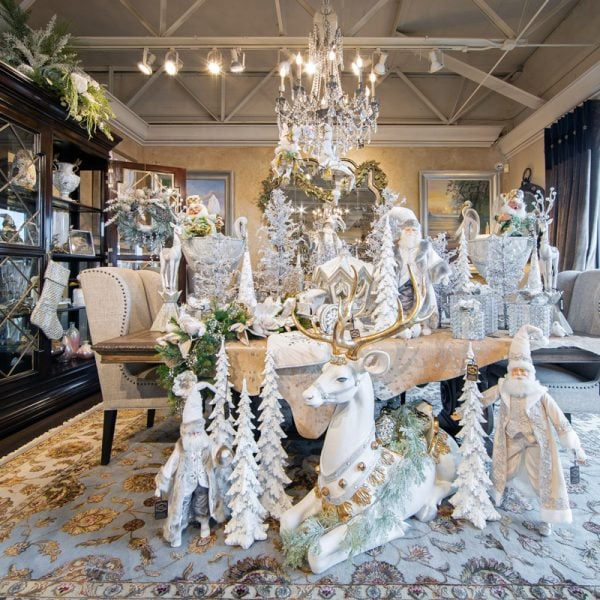 Winter White Christmas Wonderland Luxury Holiday Decorations for Sale in Chicago Land