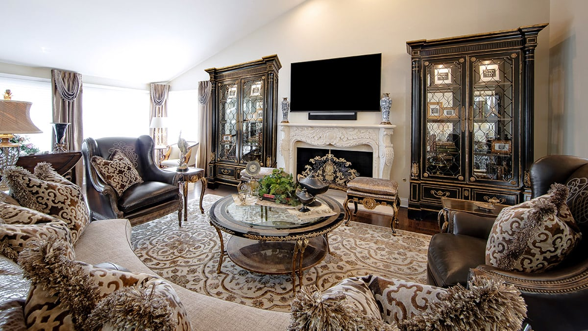 Elegant Marge Carson Family Room Interior Design Home Ideas