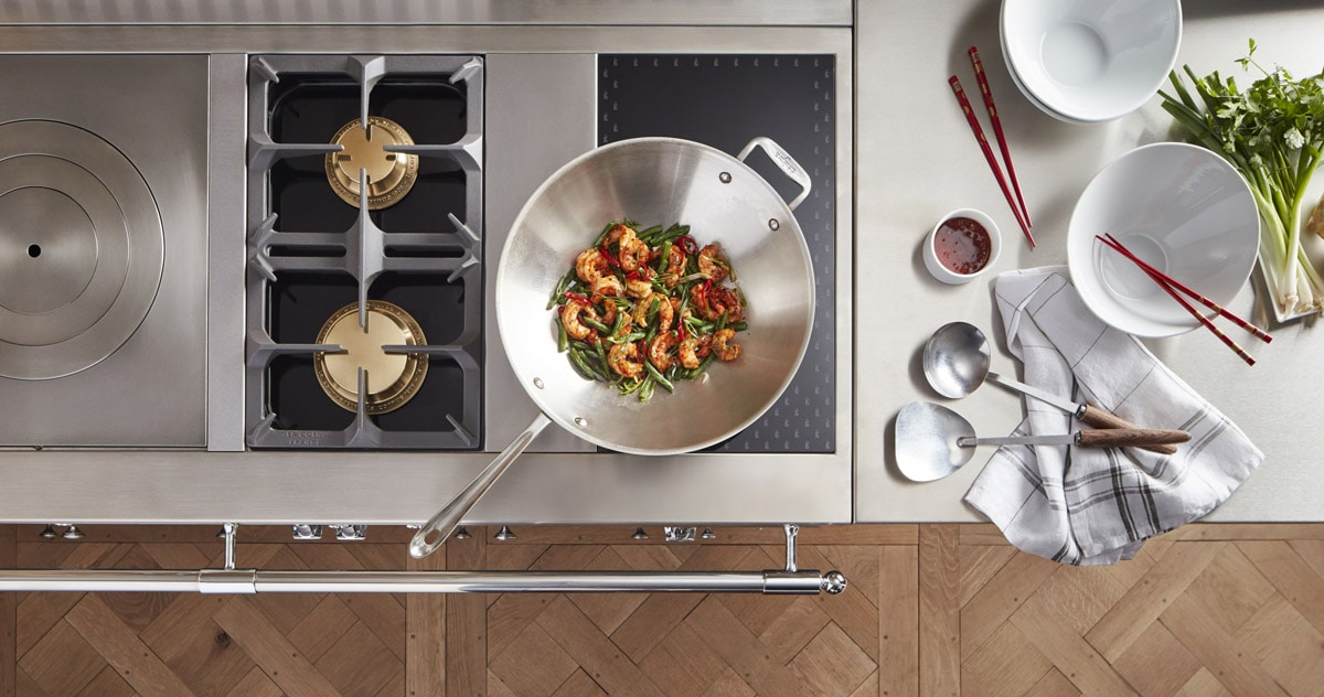 La-Cornue-Luxury-French-Kitchen-Ranges-Stove-Top-From-Above-Cooking-in-the-Kitchen