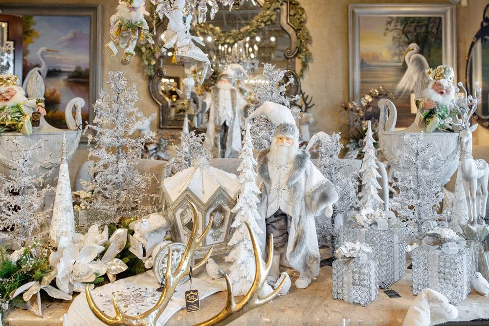 Winter White Christmas Wonderland Luxury Holiday Decorations for Sale