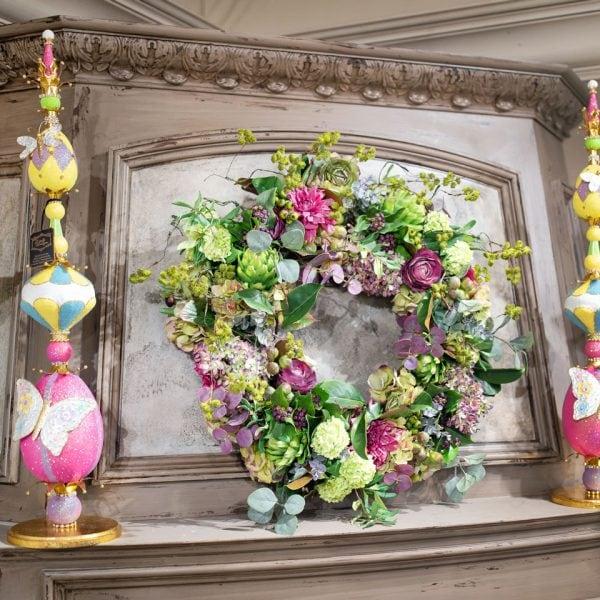 Handcrafted-Spring-Silk-Flower-Wreath