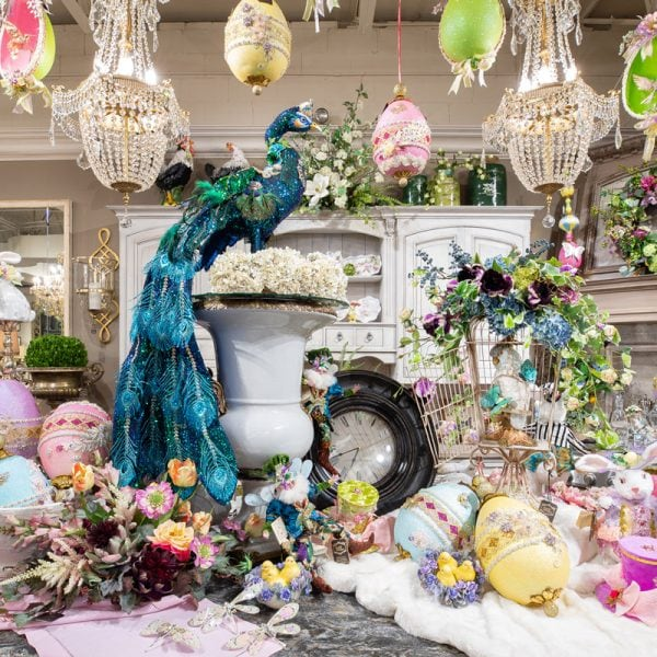 Luxury Spring Decor Decorated on a Kitchen Island
