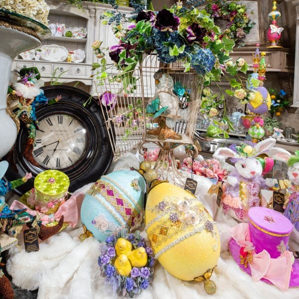 Luxury Spring and Easter Decor Decorated on a Kitchen Island
