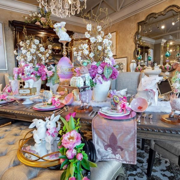 Pastel Luxury Spring & Easter Dining Table Setting and Decorations