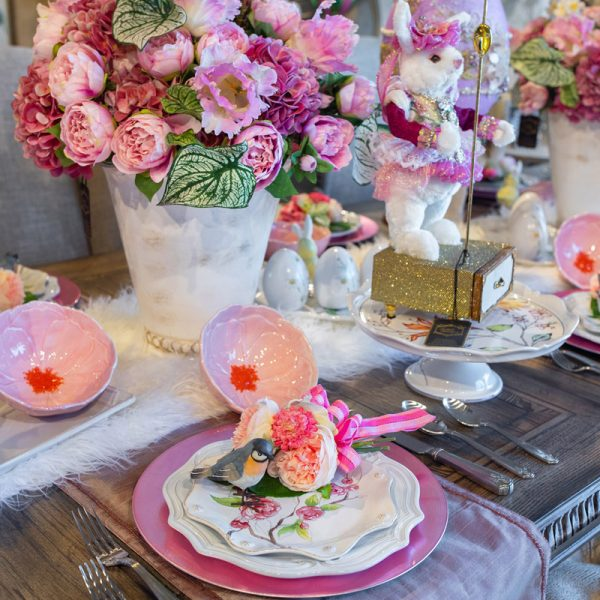 Pastel Pink Luxury Spring Table Setting