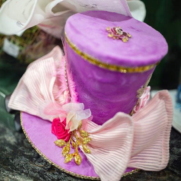 Purple Velvet Spring Top Hat Luxury Easter Home Decor