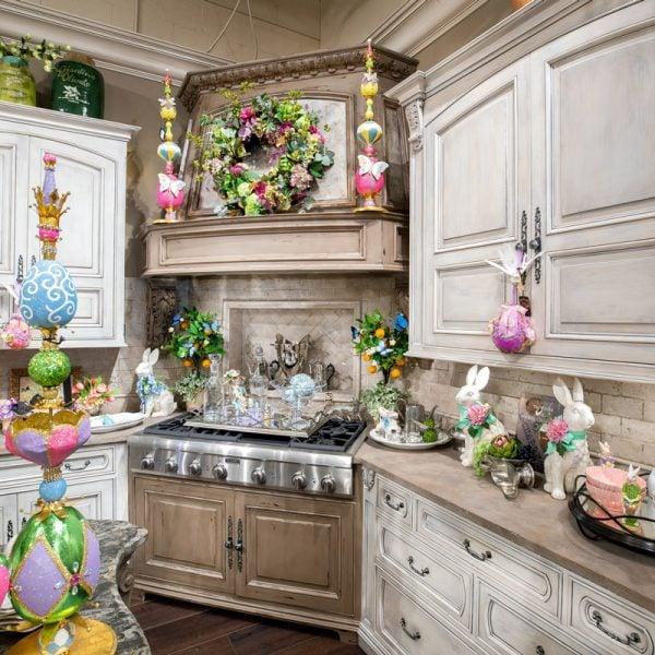 Spring Kitchen Hood Decorating Ideas