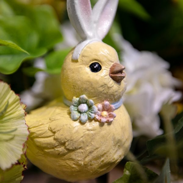 Yellow Spring Baby Chick With Easter Bunny Ears
