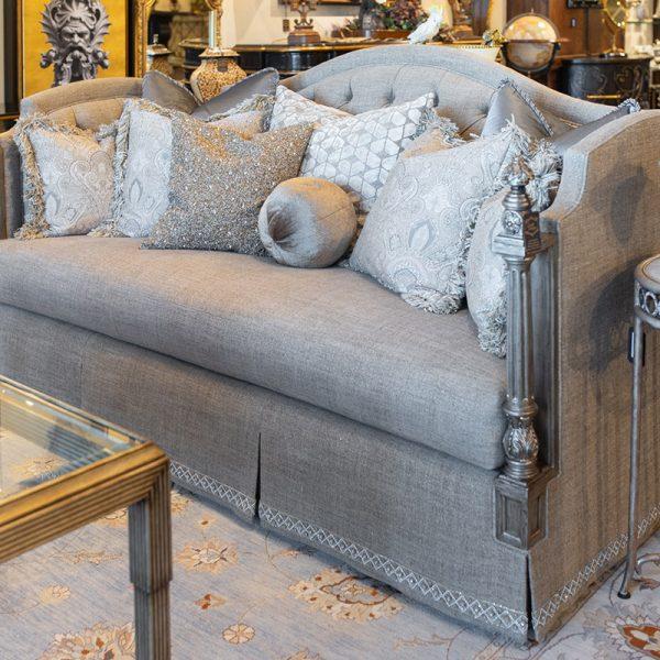 Luxury Marge Carson Custom Silver Living room Sofa fine furniture