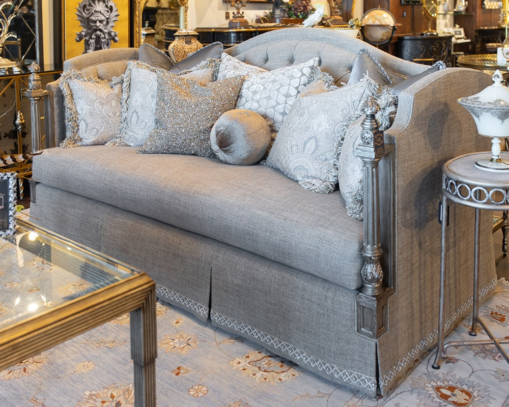 Luxury Marge Carson Custom Silver Living room Sofa fine furniture