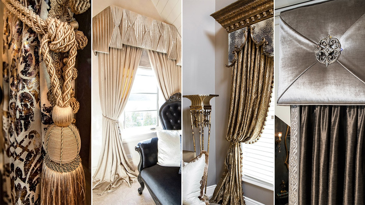 luxury handcrafted window treatments from Chicago Interior Design Firm Linly Designs